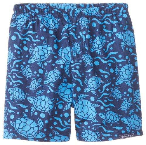JoJo Maman Bebe Baby-Boys Newborn Swim Shorts Blue Turtle - 1