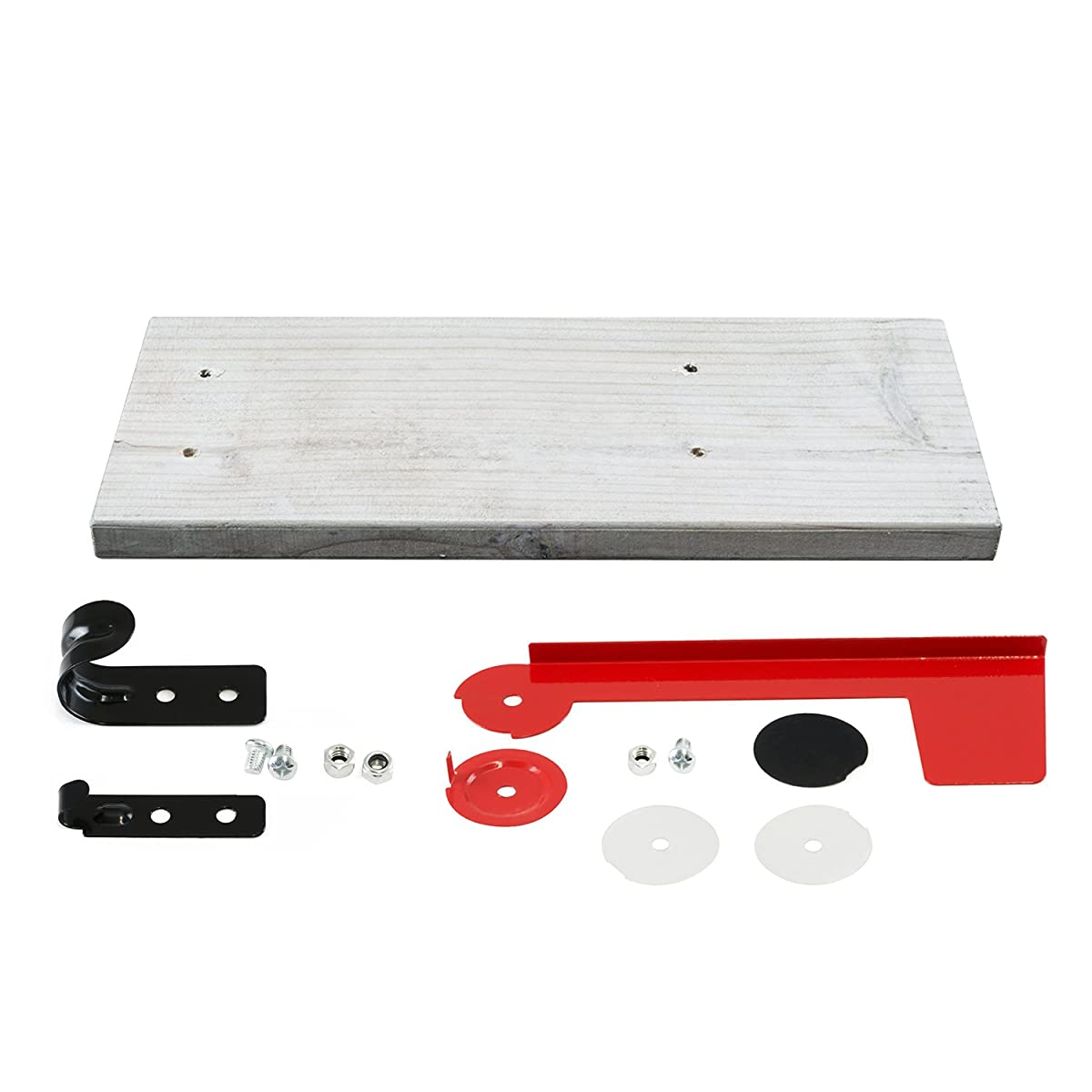 """Houseables Mailbox Post Kit System, Mail Box Included, Combo White & Black, 72"""" x 4"""", Vinyl PVC Plastic Post & Mounting Arm, Aluminum Mailboxes, Steel Anchor, Rust Proof, For Home, Residence, Curbside"""