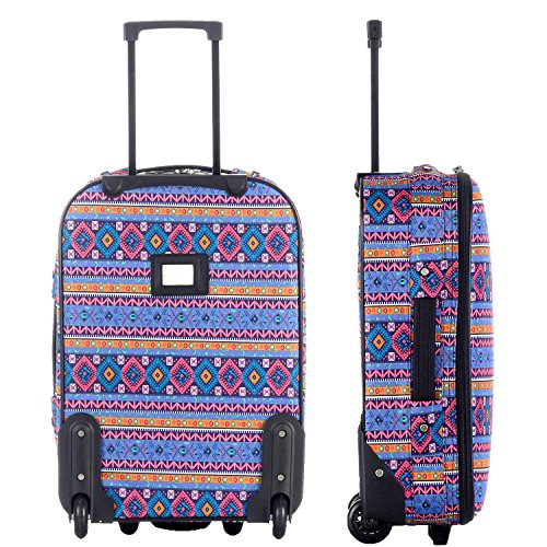 DAVIDJONES Vintage Print 4 Piece Luggage Set 3