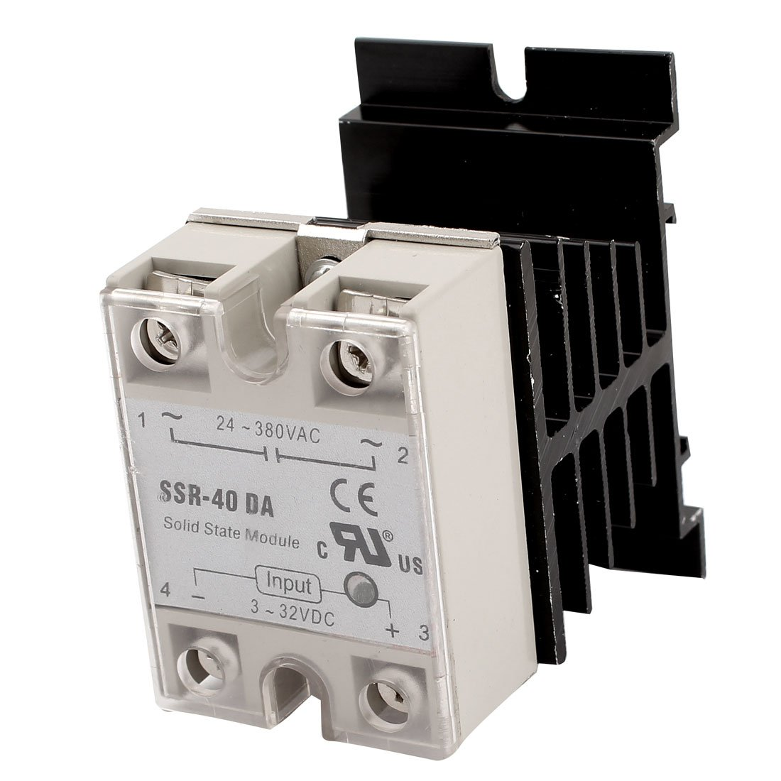 DC 3-32V Input AC 24-380V Output 40A SSR Solid State Relay w Heat Sink ssr 100va temperature control voltage resistance regulator solid state relay ssr 100va 100a 24 380v ac 500 kohm 2w