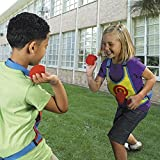 Dodge Ball With 2 Target Velcro Vests And 10 Sticky Balls - Outdoor Fun Sports Toys For 5+ Year Kids And Children