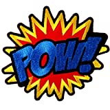 Pow Sound Attack Super Hero Cartoon Iron on Patch