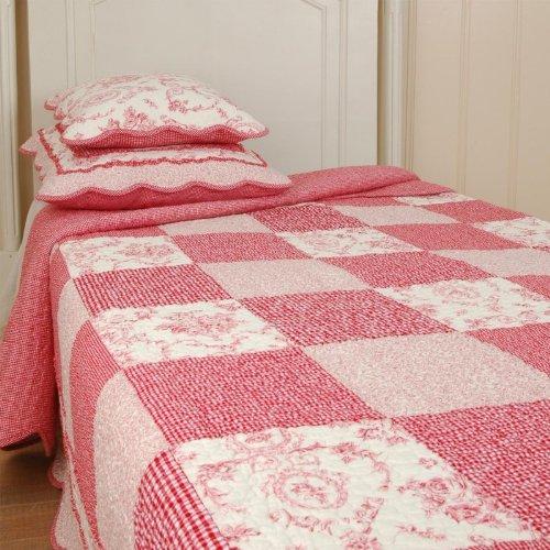 Q068.063 Clayre U0026 Eef Tagesdecke Quilt Plaid BERRY Rot/wei  300x260 Cm Küche  U0026 Haushalt