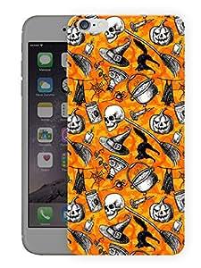 "Humor Gang Halloween Pumpkin PatternPrinted Designer Mobile Back Cover For ""Apple Iphone 6 PLUS - 6S PLUS"" (3D, Matte, Premium Quality Snap On Case)..."