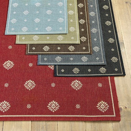 Navarre Indoor/Outdoor Rug - Black 2' x 3'7