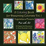 img - for A Coloring Book For Discerning Colorists Vol. 1 Vegetables and Flowers (Volume 1) by Mr. David Randolph Griffis (2016-01-26) book / textbook / text book