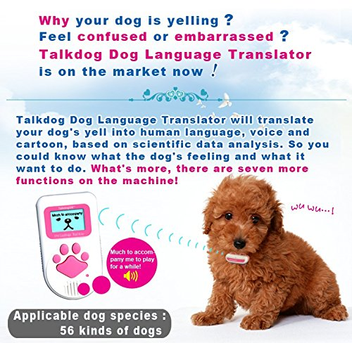 Hot Selling Newest Dog Language Intelligent Translator with 7 Good Functions to Better Love Your Dog