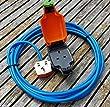 10 METER 1 WAY HEAVY DUTY ELECTRICAL GARDEN EXTENSION CABLE WITH WEATHERPROOF IP54 SOCKET