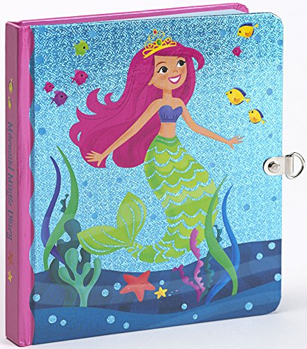 Peaceable Kingdom Mermaid Magic Shiny Foil Cover Lock and Key Diary - 1