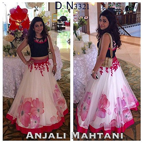 Siddhiz Women's Net and Dhupian embroidered lehenga choli