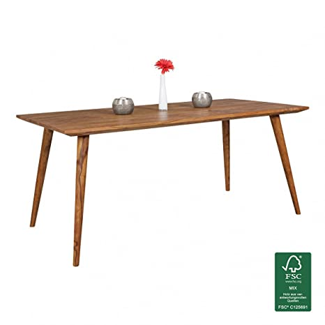 Tavolo da pranzo, in legno di Sheesham repa 180x 80x 76cm