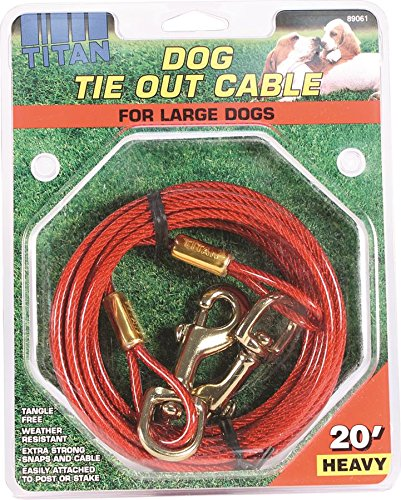 Artikelbild: Coastal Pet Titan TieOut Cable Heavy for Dog Tangle Free Weather Resistant 20ft