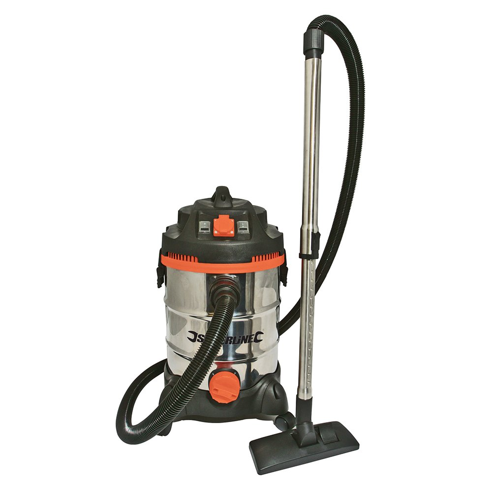 Silverline Wet & Dry Vacuum Cleaner with Power Take Off 30Ltr 1500W       review and more information