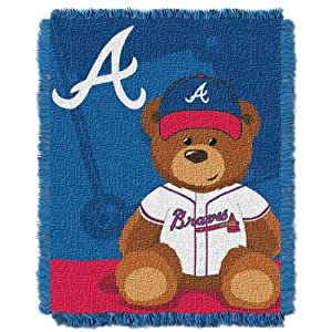 MLB Atlanta Braves Field Woven Jacquard Baby Throw Blanket, 36x46-Inch by Northwest