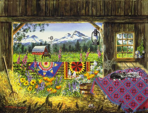 Cheap SunsOut Diane Phalen Hole In The Barn Door 500 Piece Jigsaw Puzzle (B00004T4W4)