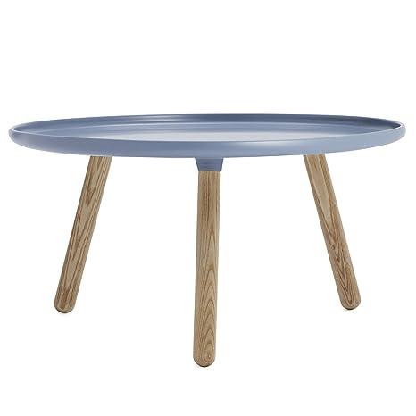 Normann Copenhagen ping/auxiliar Tablo - grande - azul Nicholai Wiig Hansen, Komposit, fresno, mesa de centro - mesa auxiliar