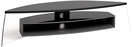 TECHLINK AC150BSG Air Curve Modern Stand for Upto 70-Inch TV - Black Satin Grey