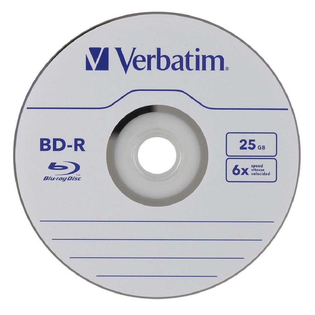Verbatim 50 Blank Bluray Disc 25 Gb 6x Bd