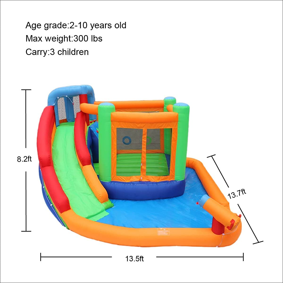 Inflatable Slide Blower: Bestparty Inflatable Spin Combo Jumper Bounce House And