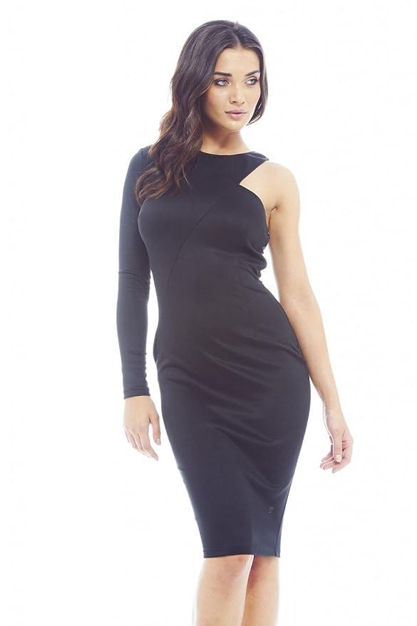 Black One Sleeve Dress by AX Paris
