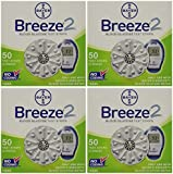 Bayer Breeze2 Test Strips Mail Order 200Ct (4 boxes of 50CT = 200CT Total)