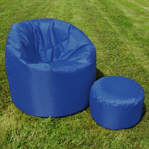 XL Bean Bag with Handle by Bean Bag Bazaar® - Indoor/Outdoor Extra Large Bean Bags BLUE