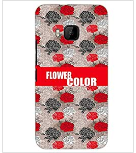 PrintDhaba Flowers D-2575 Back Case Cover for HTC ONE M9S (Multi-Coloured)