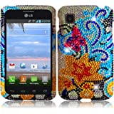 Hedonic Flowers Premium Hard Full Diamond Bling Case Cover Protector for LG Optimus Dynamic II LG39C L39C (by... by LG