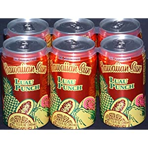 Not all Luau drinks are alcoholic! Fun Hawaiian punch cans