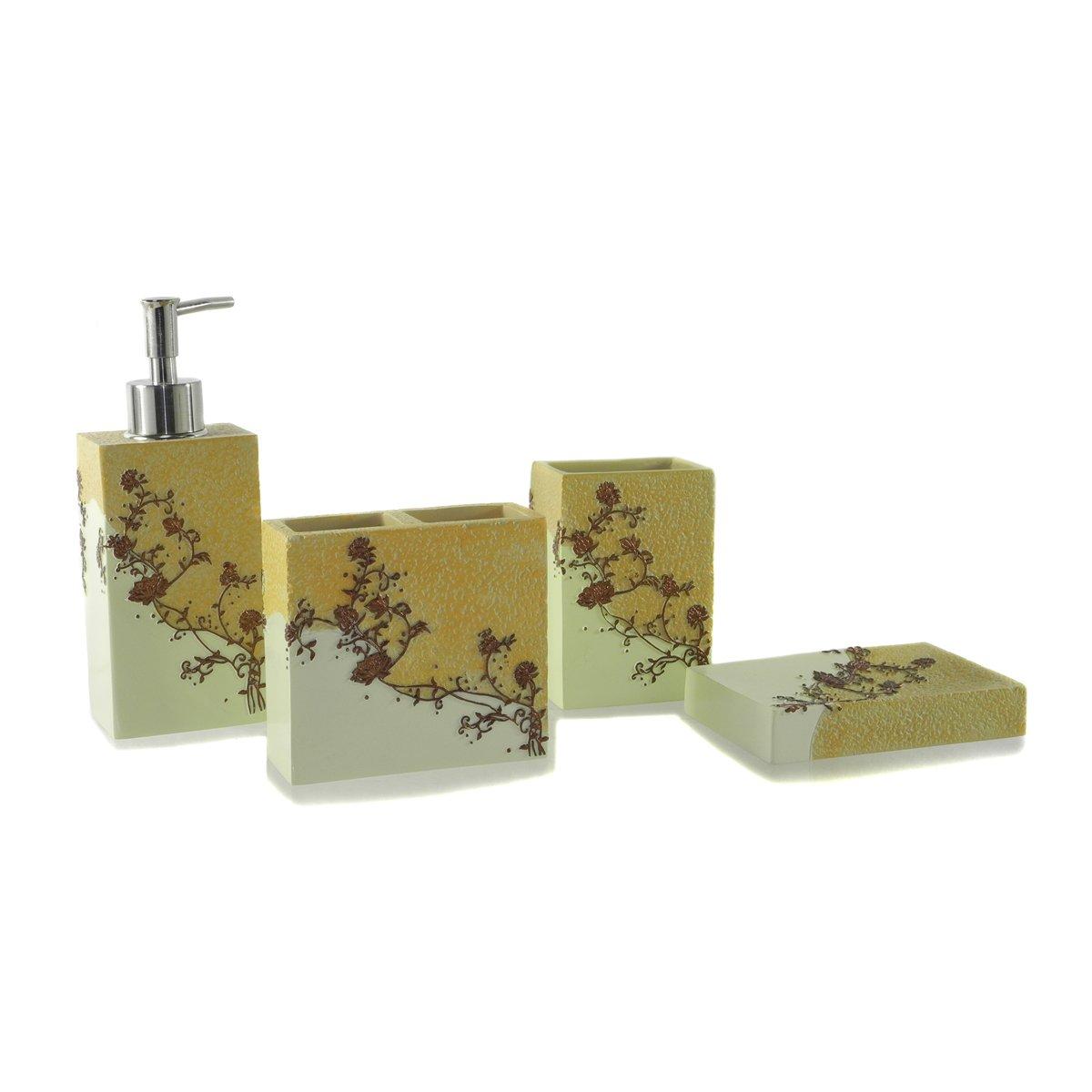 Dream bath fujimoto flowers bath ensemble 4 piece bathroom for Bathroom 4 piece set