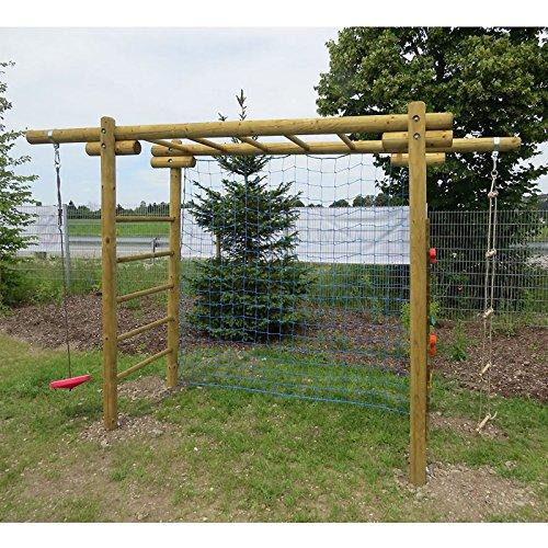 Kinder-Klettergerüst Classic aus Holz mit Netz für Fußballtor Gartenpirat®