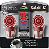 SOLOFILL 10720-01-CHROME Refillable Filter Cup for Keurig(R) 2 pk