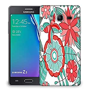 Snoogg abstract floral background Designer Protective Back Case Cover For Samsung Galaxy Tizen T3