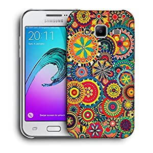 Snoogg Abstract Multicolor Floral Designer Protective Back Case Cover For SAMSUNG GALAXY J2