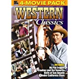 Western Classics 4 Pack - My Pal Trigger, Cowboy and the Senorita, Bells of San Angelo, Under California Stars ~ Roy Rogers
