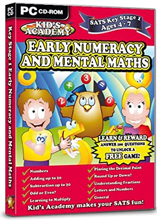 Kid's Academy - Key Stage 1 Early Numeracy and Mental Maths  - 4-7 Years (PC CD)