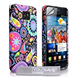 Yousave Accessories �l�gant M�duse Etui en silicone + Film de Protection d'�cran pour Samsung Galaxy S2 i9100 Multicolorepar Yousave Accessories
