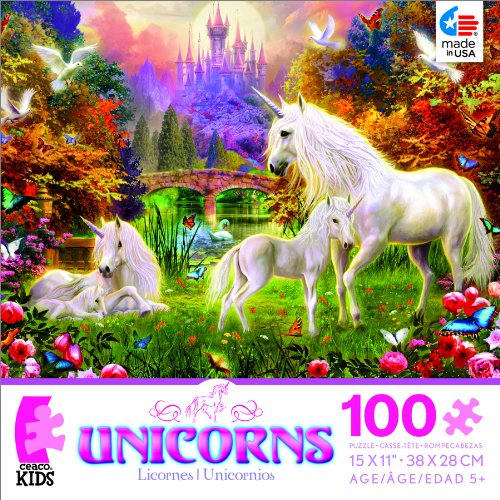 Unicorns The Castle Unicorns Jigsaw Puzzle