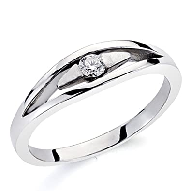 18k white gold ring sparkling diamond 0,035ct 1 [7307]