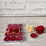#6: Devinez Scented Rose Smokeless Tealight Candle, (Pack of 12), 4.5 hour Buring