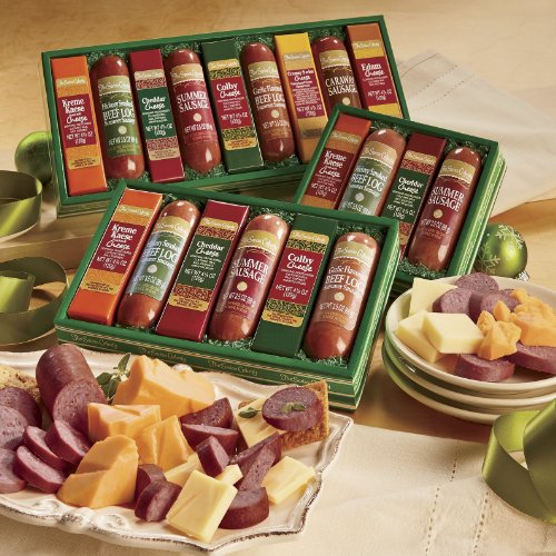 The Swiss Colony Sausages 'n Cheese Bars 9-Piece Gift Box image