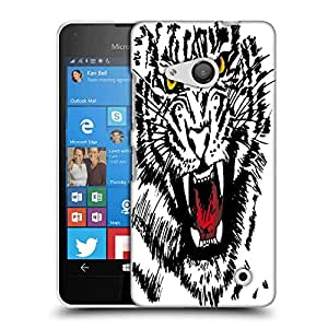 Snoogg sketch of white tiger vector illustration Designer Protective Back Case Cover For Nokia Lumia 550