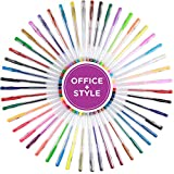 Gel Pens Set, 48 Pack, Non-Toxic, Water Resistant, Great for Sketching, Drawing, Calligraphy, & More. For All Ages - By Office Style