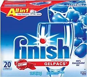 Finish Gelpacs, Fresh, 20-Count (Pack of 2)