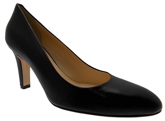 art. Cour de D065 cuir chaussure classique noir