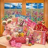 Gift Basket Drop Shipping Little Cottontails Easter Activity Easter Basket - Pink