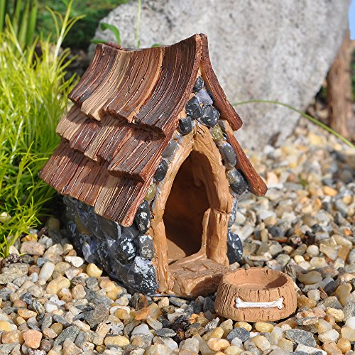 Fiddlehead Fairy Garden Shingletown Dog House and Separate Dog Bowl (Miniature Dog House compare prices)