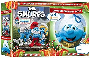 The Smurfs Blu-ray Standard Dvd The Smurfs A Christmas Carol With Plush Toy Backpack Clip from Columbia Tri-Star