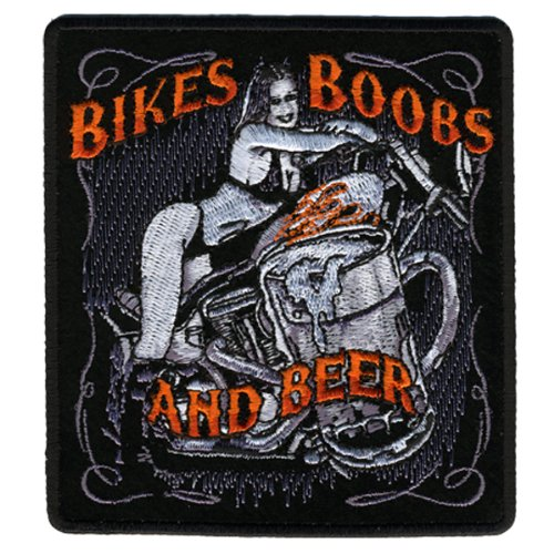 Hot Leathers Bikes, Boobs & Beer Patch (4
