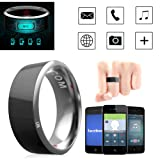 Leagway R3 Smart Ring, Waterproof Dust-proof Fall-proof Smart Ring For Android Windows NFC Mobile Phone, Multifunction Magic Finger Ring for Samsung Xiaomi HTC LG Sony Motorola Nokia (#10) (Tamaño: #10)